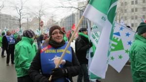 Kald demonstrant