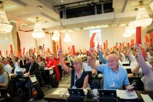 Landsmøtet 2015 - Bilde fra landsmøtesalen