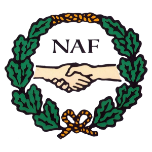 NAF-logo - dypetset / formskåret